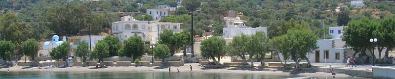 Krithoni bay on the Greek island of Leros