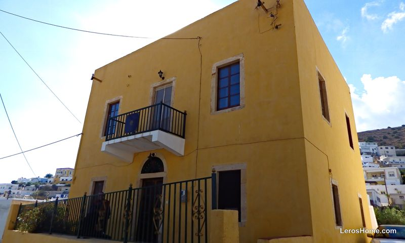 neoclassical mansion for sale in Pandeli, Leros